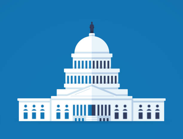United States Capitol Building United States Capitol dome illustration concept. state capitol building stock illustrations