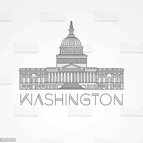 United states capitol detailed linear icon washington dc vector id604383478?b=1&k=6&m=604383478&s=612x612&h=jsb ql8 ho2dxxgoxmababup6okvdubvawj vngfqzq=