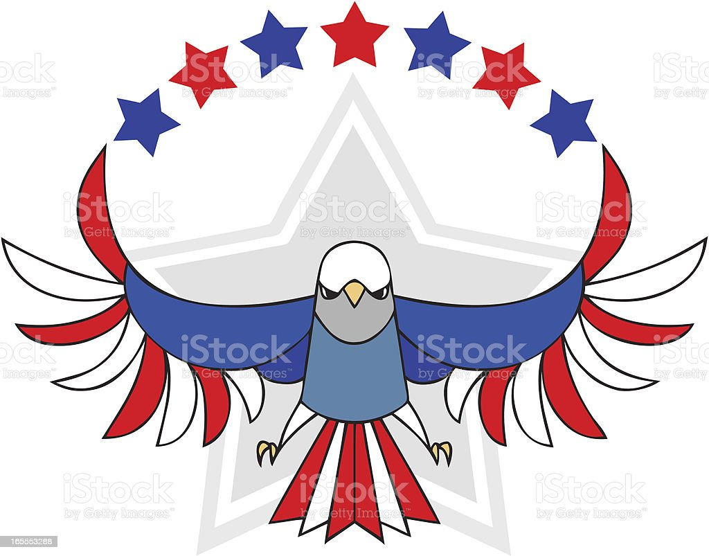 United States Eagle Independence Day Symbol vector art illustration