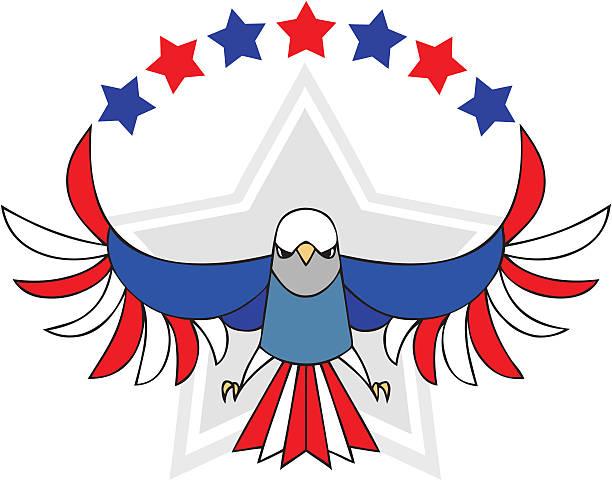 united states eagle independence day symbol - byteandpixel stock illustrations