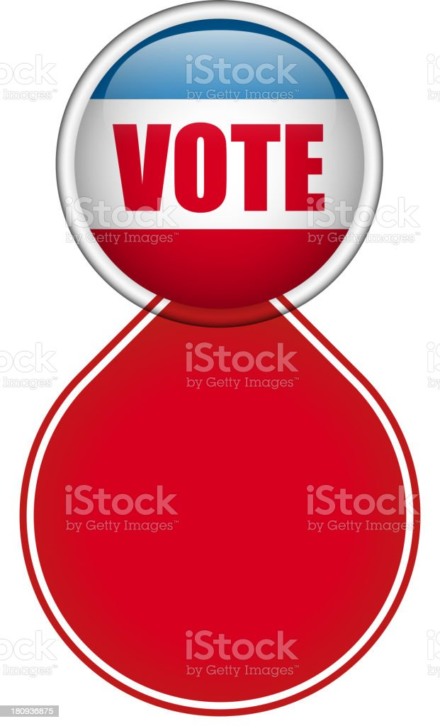 United States Election Vote Button. royalty-free united states election vote button stock vector art & more images of american flag