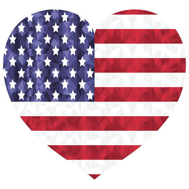 Best Heart Shaped American Flag Illustrations, Royalty ...