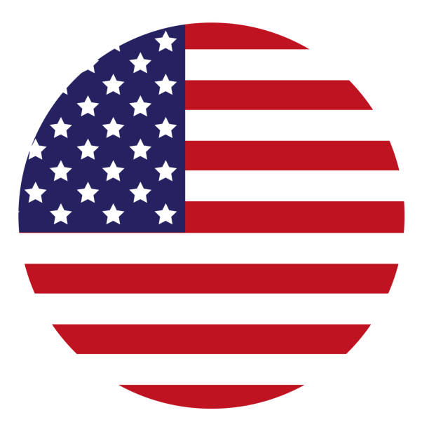 united states flag icon - american flag stock illustrations