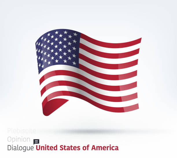 united states flag international dialogue & conflict management - us flag stock illustrations