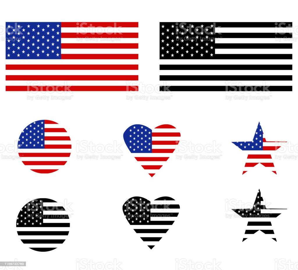 United States flag on white background. flat style. Flag of the...
