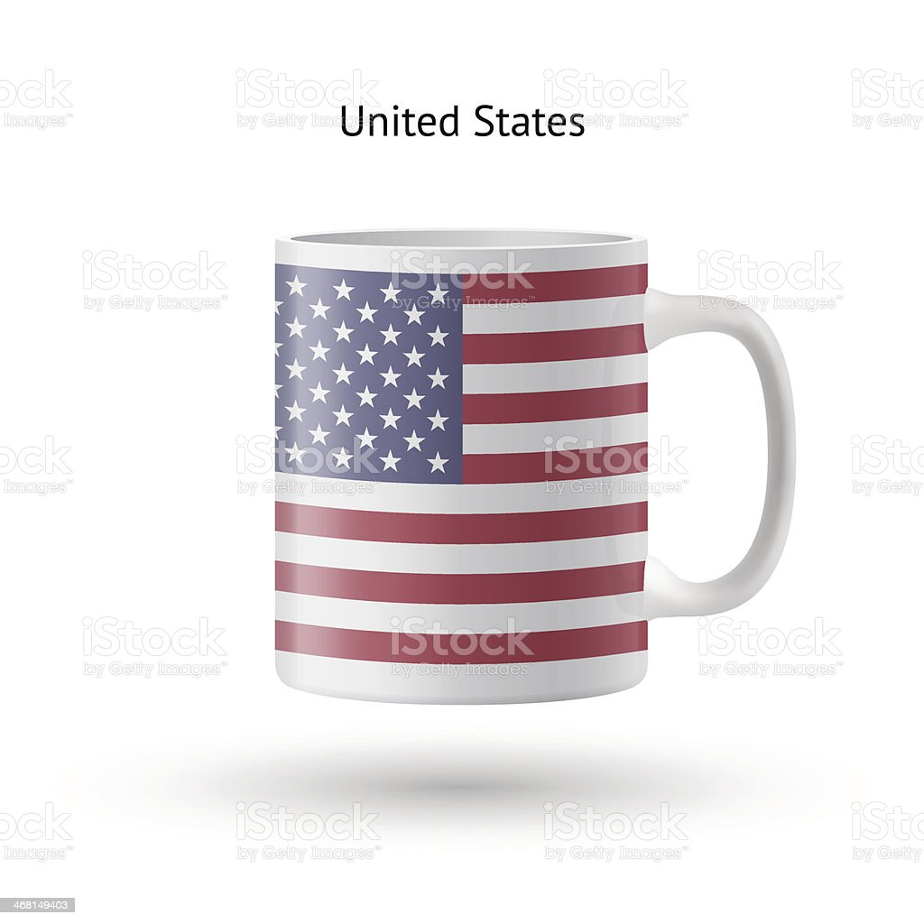 United States flag souvenir mug on white background. royalty-free stock vector art