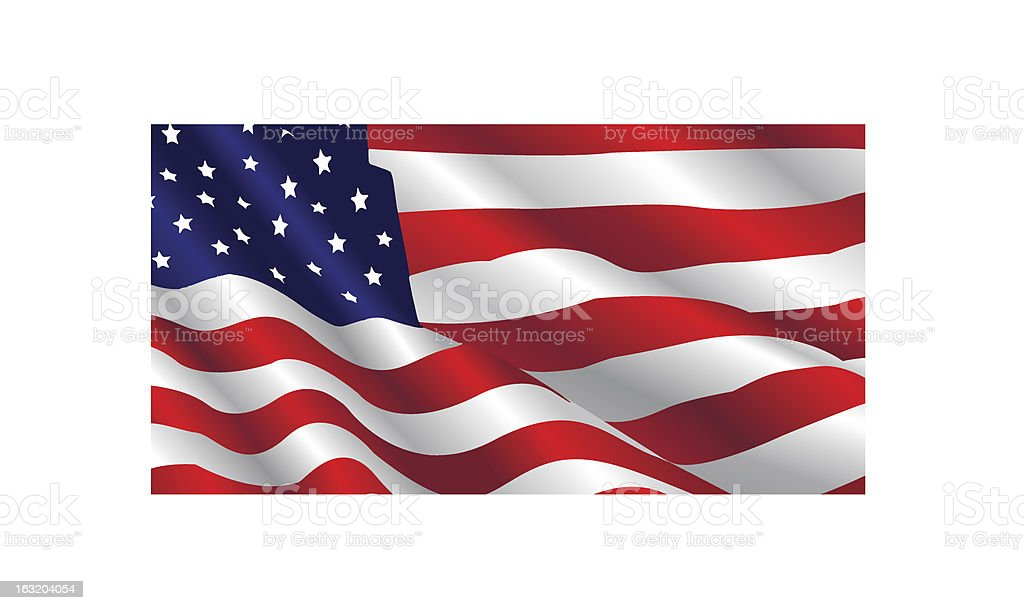 United States Flag royalty-free stock vector art