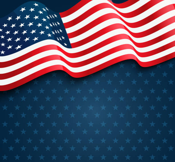 united states flag - presidents day stock illustrations, clip art, cartoons, & icons