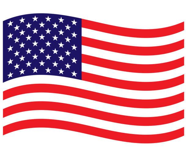 amerika birleşik devletleri akan bayrak arka plan - sembolizm akımı stock illustrations