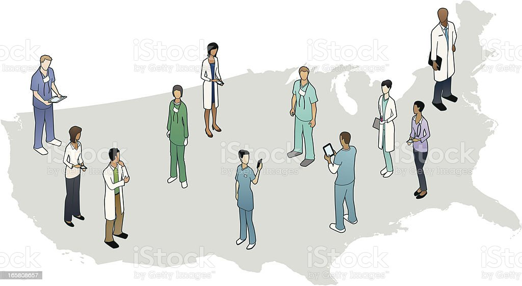 United States Healthcare vector art illustration