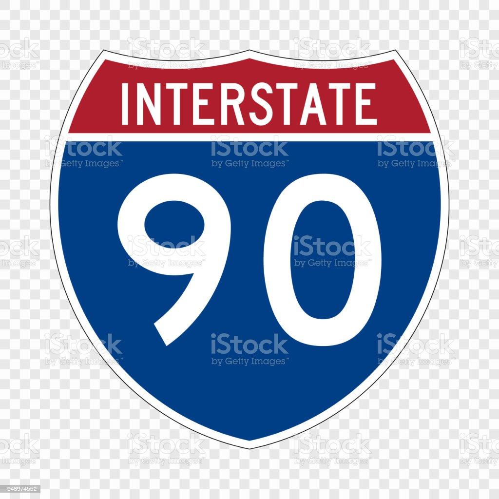Bouclier de l'autoroute des États-Unis - Illustration vectorielle