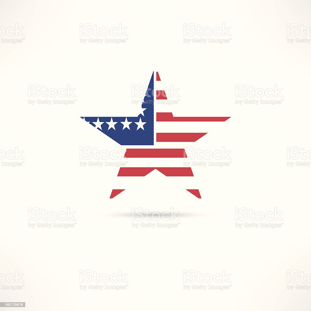 United States icon royalty-free stock vector art