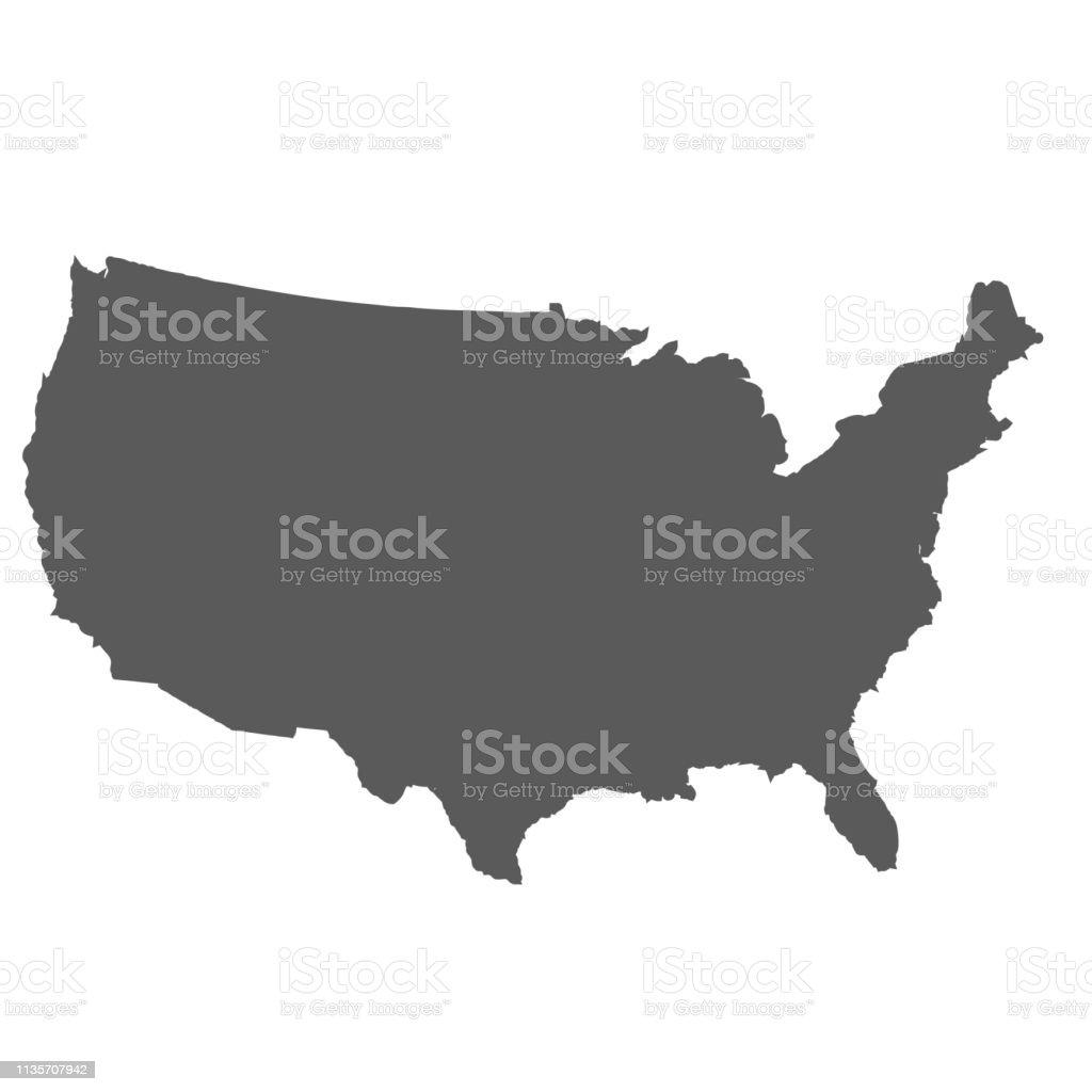 Birleşik Devletler harita arka plan - Royalty-free ABD Vector Art