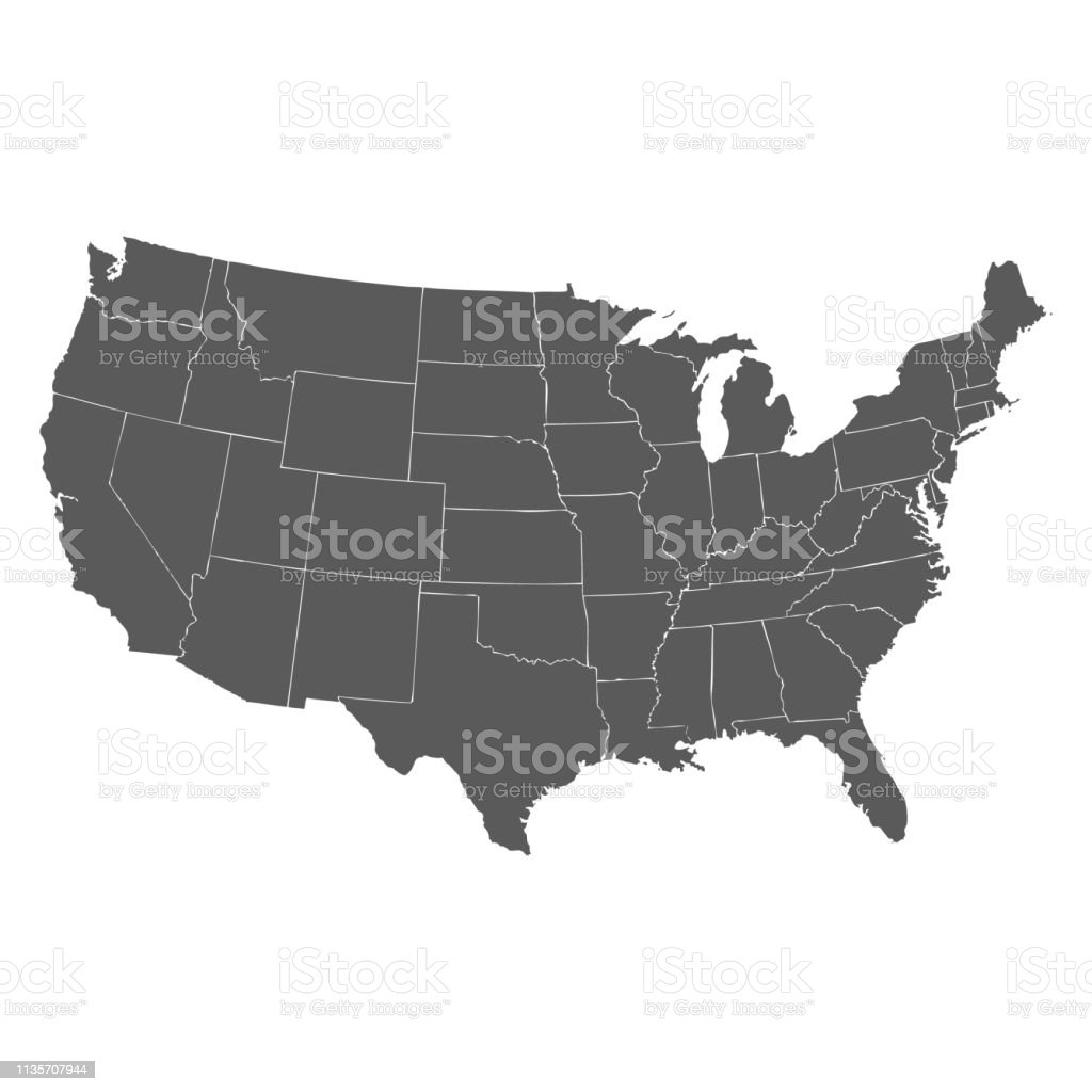 United States Map Background Stock Illustration - Download Image Now