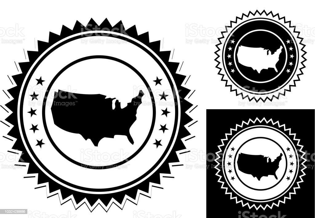 United States Map Icon Stock Vector Art & More Images of Badge ...