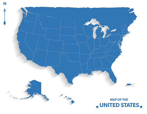 United States Map With Capital City,