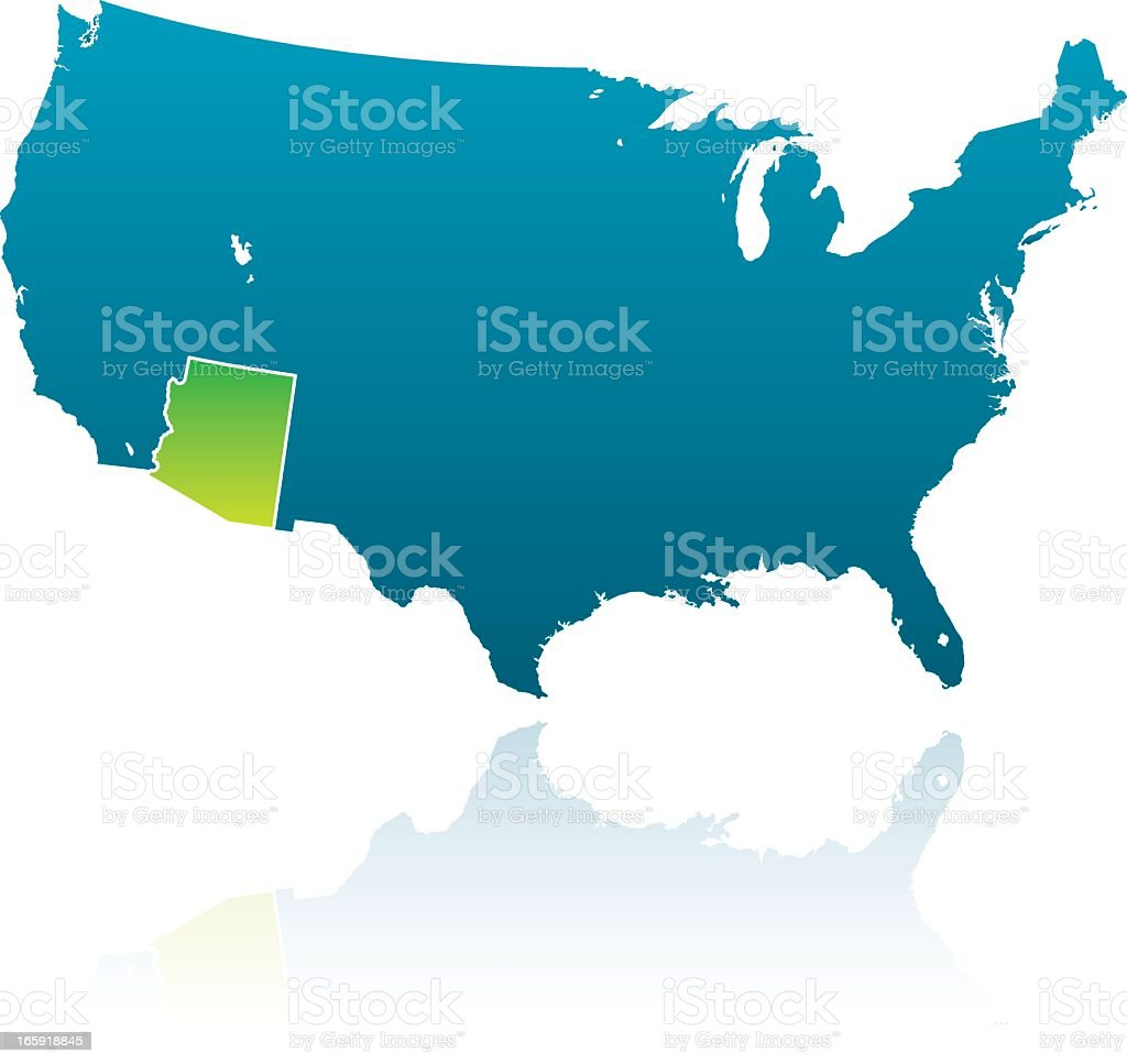 United States Maps: Arizona royalty-free united states maps arizona stock vector art & more images of arizona