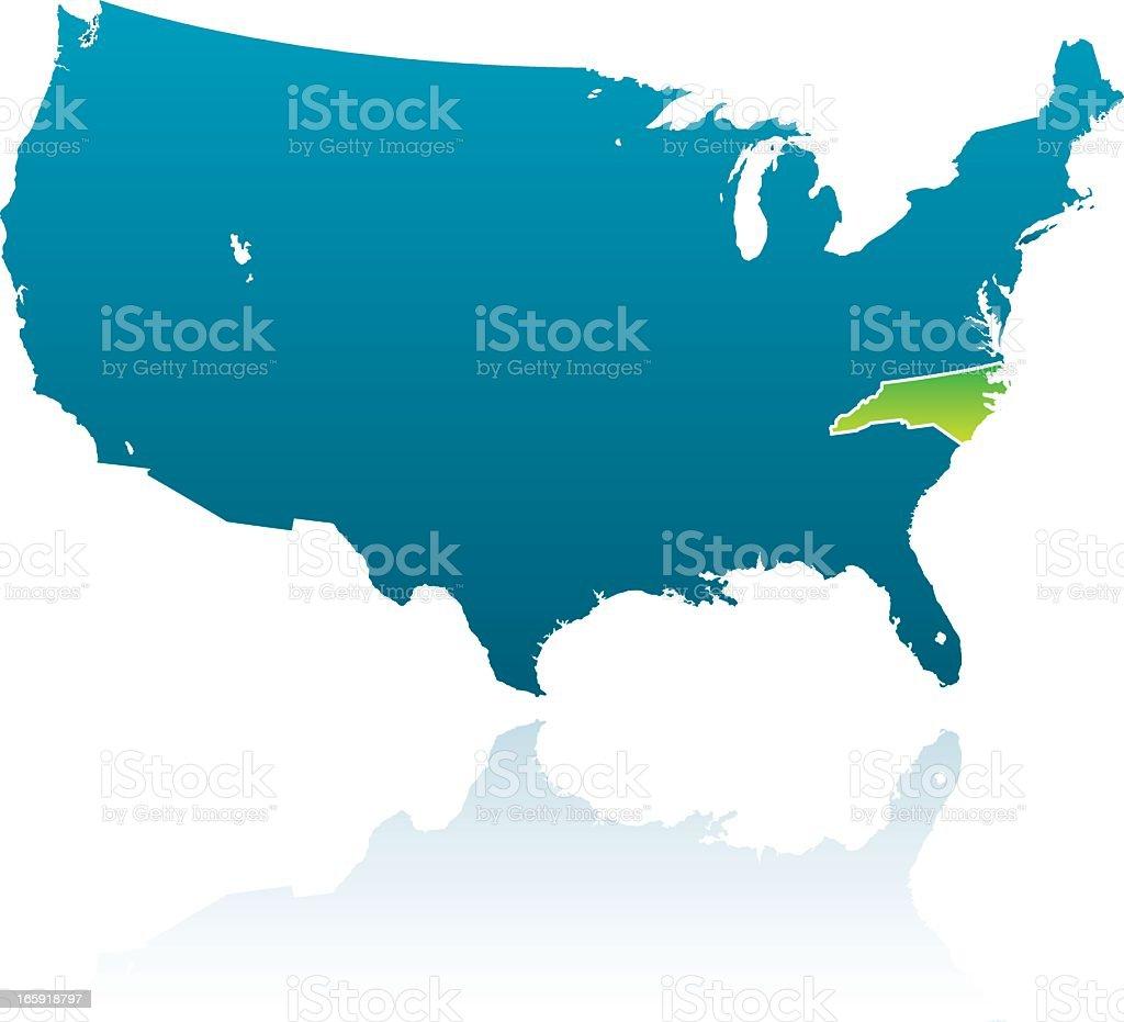 United States Map North Carolina.United States Maps North Carolina Stock Vector Art More Images Of