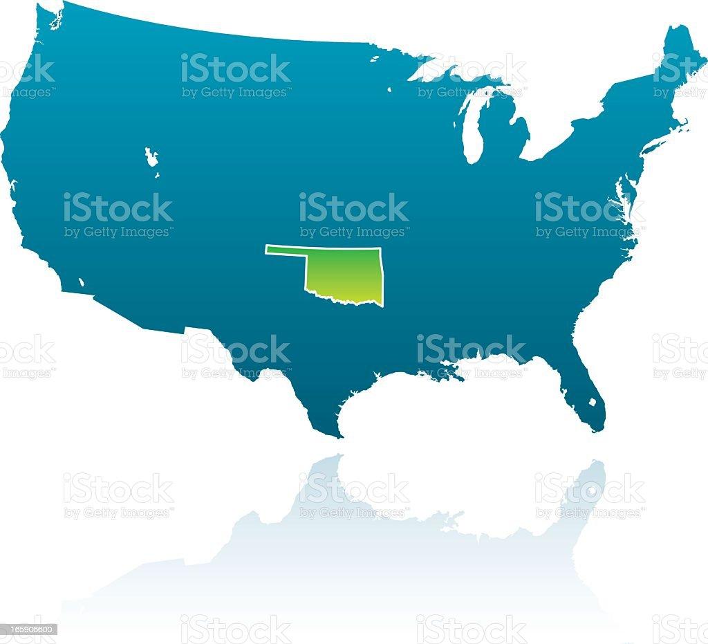 United States Maps: Oklahoma royalty-free united states maps oklahoma stock vector art & more images of blue