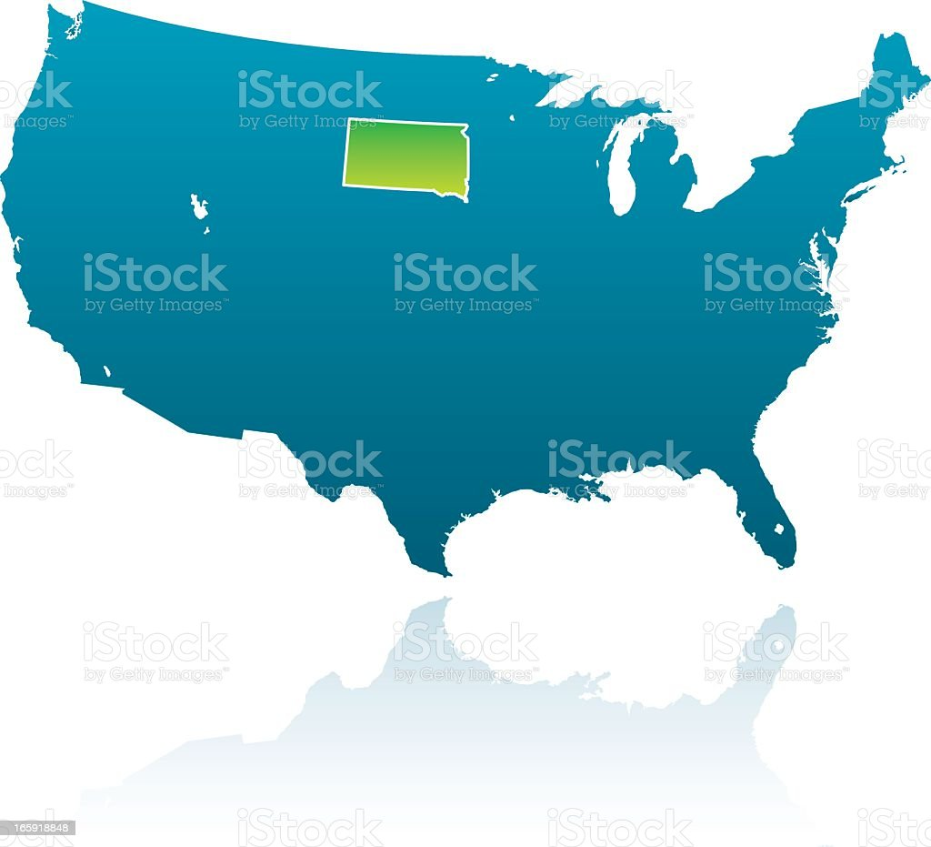United States Maps South Dakota Stock Vector Art More Images Of