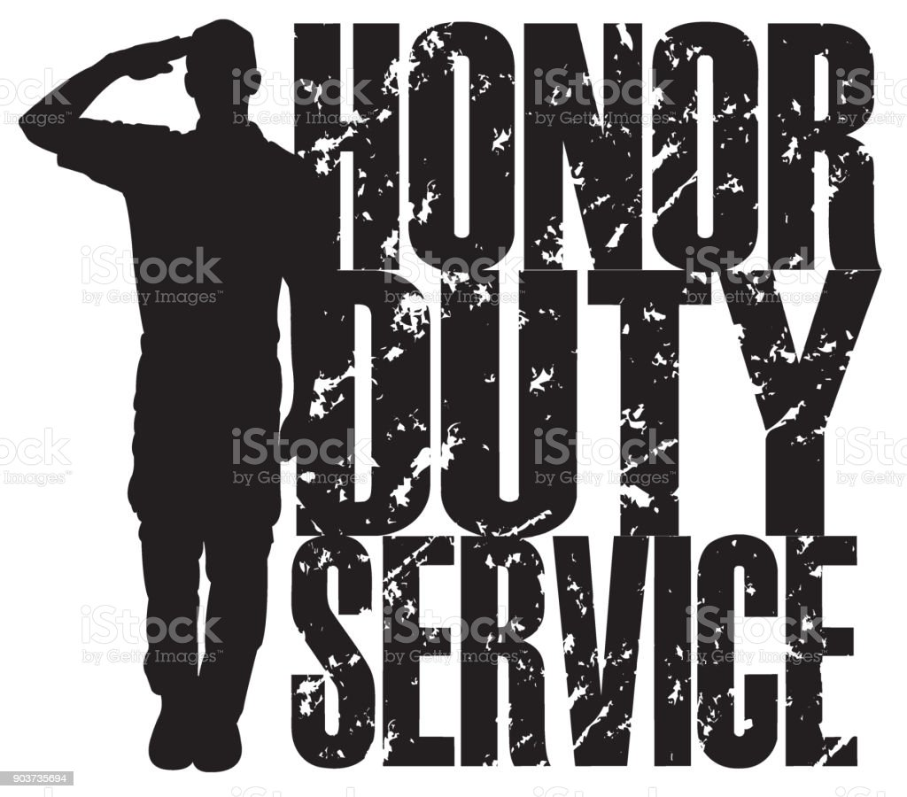 United States Military Army Soldier, Honor, Duty, Service vector art illustration
