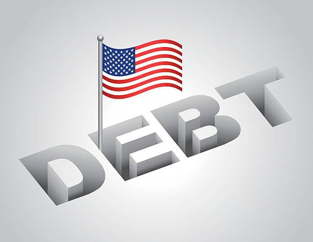 illustrazioni stock, clip art, cartoni animati e icone di tendenza di united states national debt - luogo d'interesse nazionale