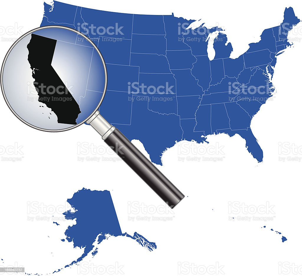 United States of America - California Map royalty-free stock vector art