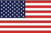 Current USA flag w/50 stars, 13 stripes. Isolated, blank.