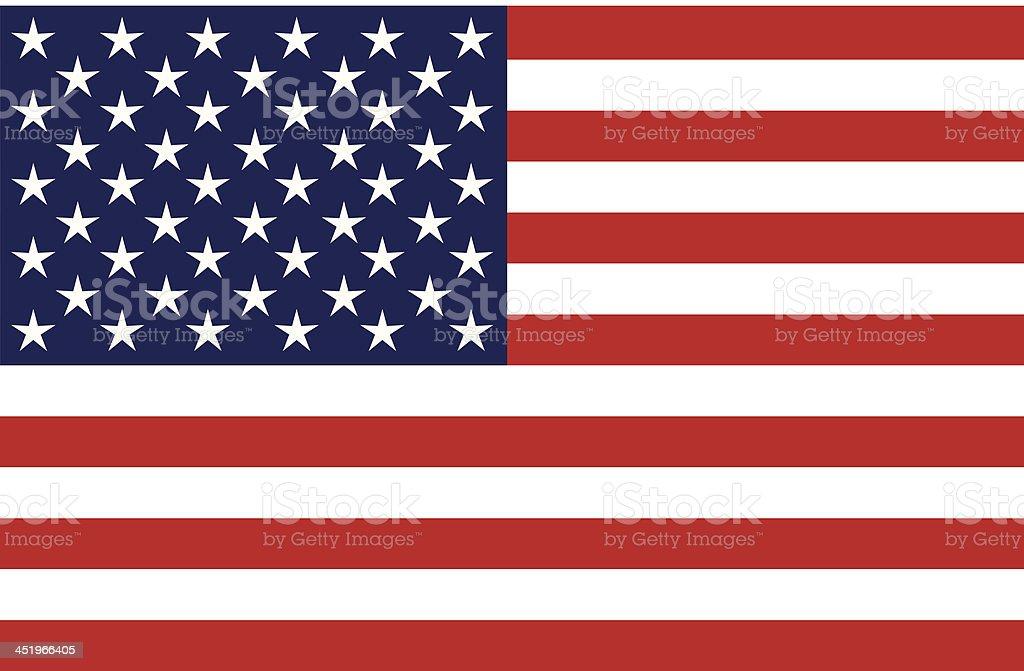 United States of America Flag, Isolated, Blank vector art illustration