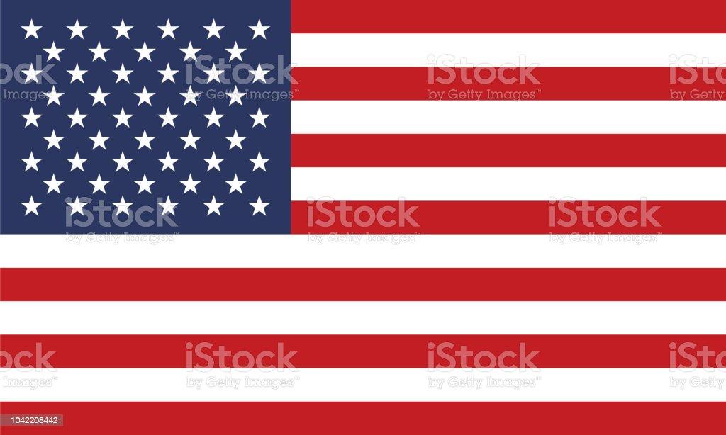 米国の旗 ベクターアートイラスト