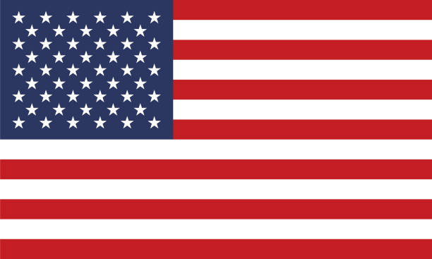 united states of america flag - american flag stock illustrations