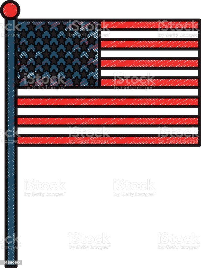 united states of america flag united states of america flag - arte vetorial de stock e mais imagens de arte royalty-free