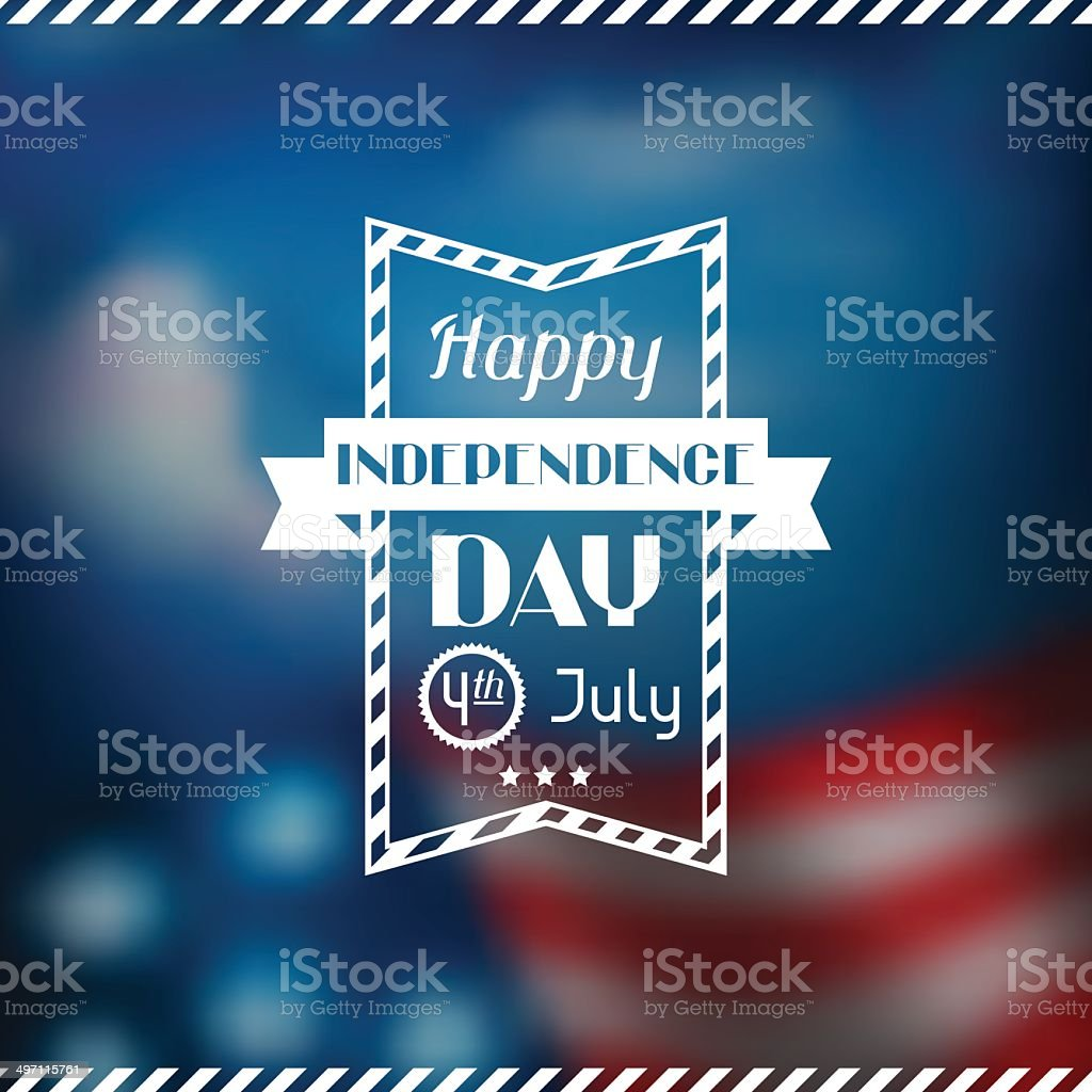 United States of America Independence Day greeting card. vector art illustration