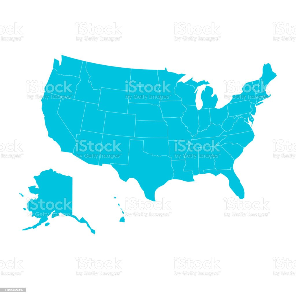 United States Of America Map Color Design Stock Illustration ...