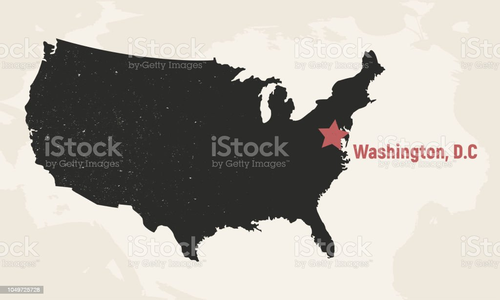 United States Of America Map Usa Map With Capital Poster Map Of Usa