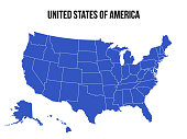 istock United States Of America Map USA Vector Isolated 1328756198
