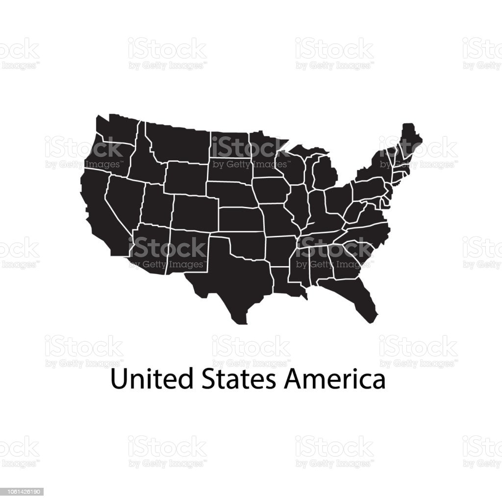 Map States Of America.United States Of America Map Stock Illustration Download Image Now