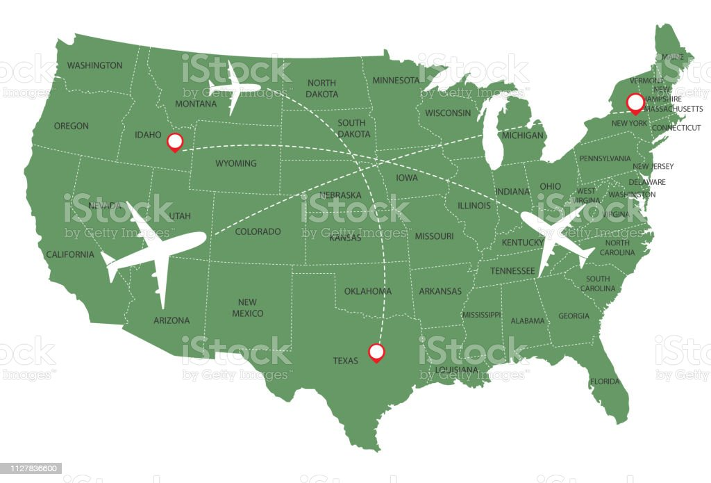 United States Of America Map Stock Illustration - Download Image Now