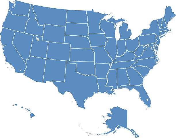 Alaska Us State Clip Art Vector Images Illustrations IStock - Usa map including alaska