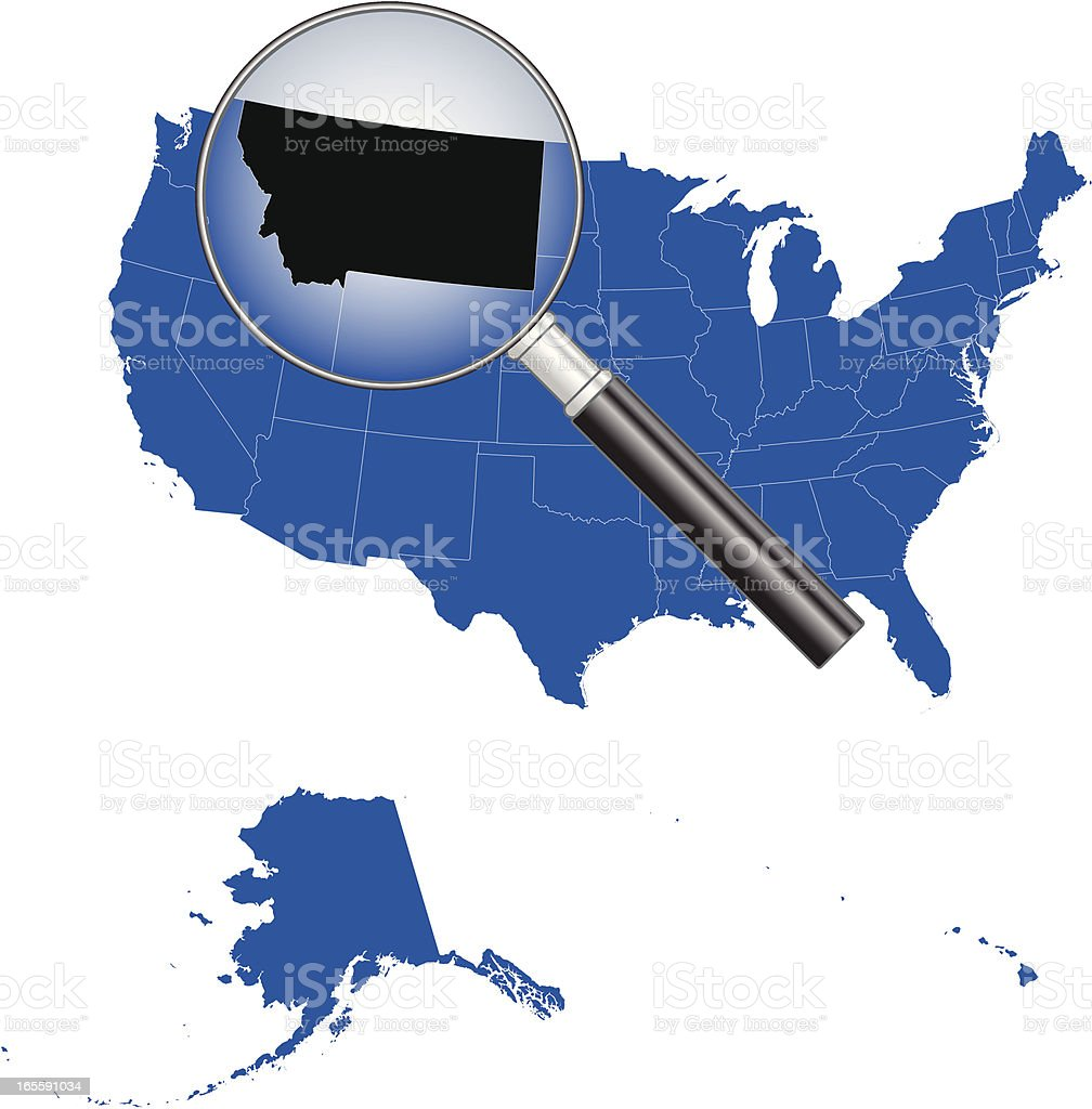 United States of America - Montana Map royalty-free stock vector art