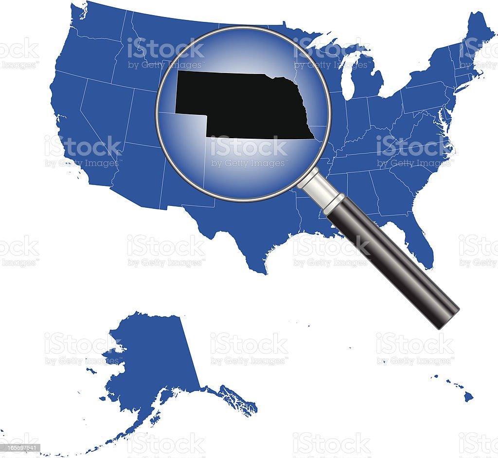 United States of America - Nebraska Map royalty-free stock vector art