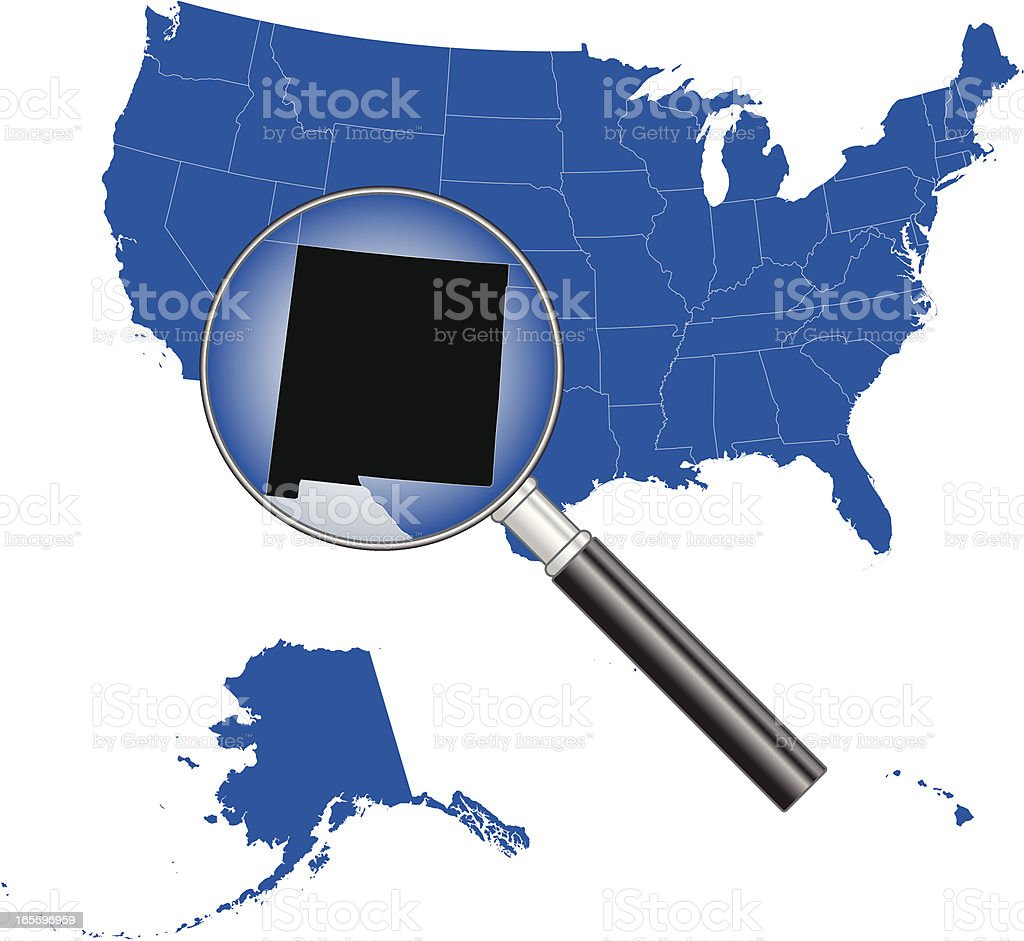 United States of America - New Mexico Map royalty-free stock vector art