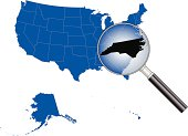 United States of America - North Carolina Map