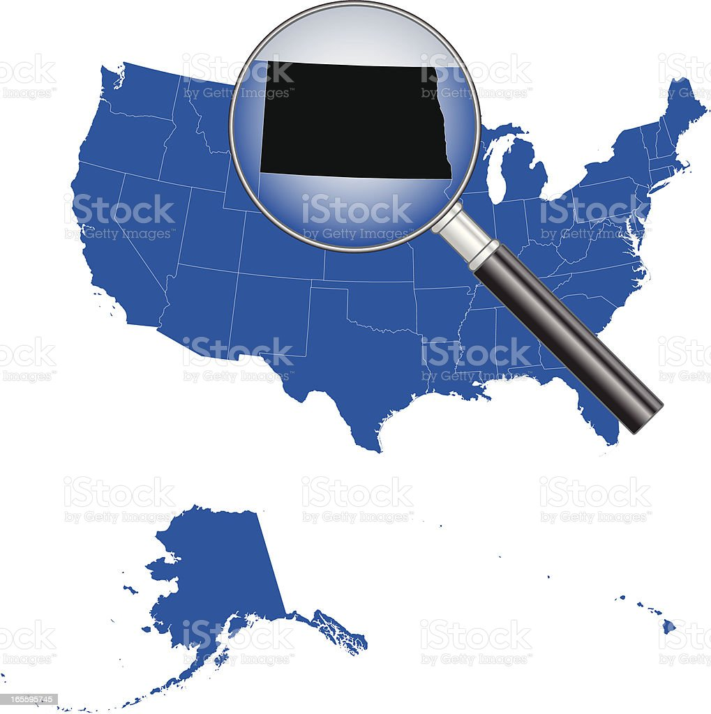 United States of America - North Dakota Map royalty-free stock vector art