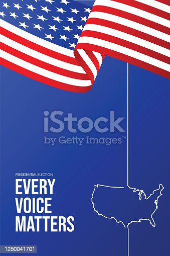istock United States of America Presidential Election 2020. Vector stock illustration 1250041701