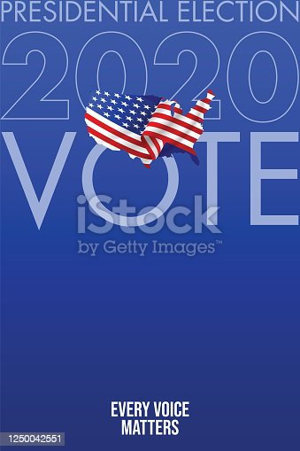 istock United States of America Presidential Election 2020. Vector stock illustration 1250042551