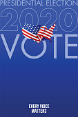United States of America Presidential Election 2020. Vector stock illustration