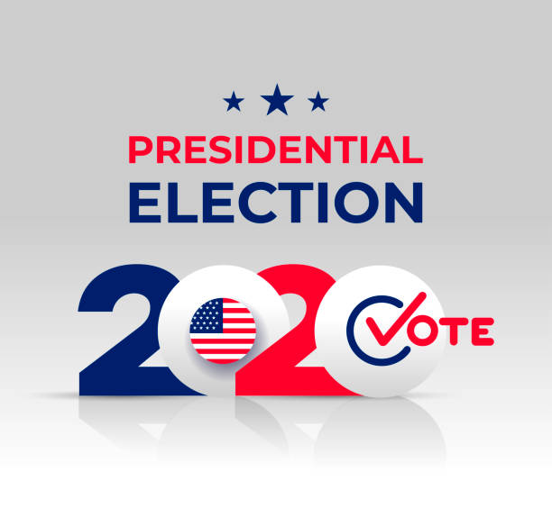 2020 United States of America Presidential Election banner. Design logo. Election banner Vote 2020 with Patriotic Stars. Vector illustration. Isolated on white background 2020 United States of America Presidential Election banner. Design logo. Election banner Vote 2020 with Patriotic Stars. Vector illustration. Isolated on white background election stock illustrations