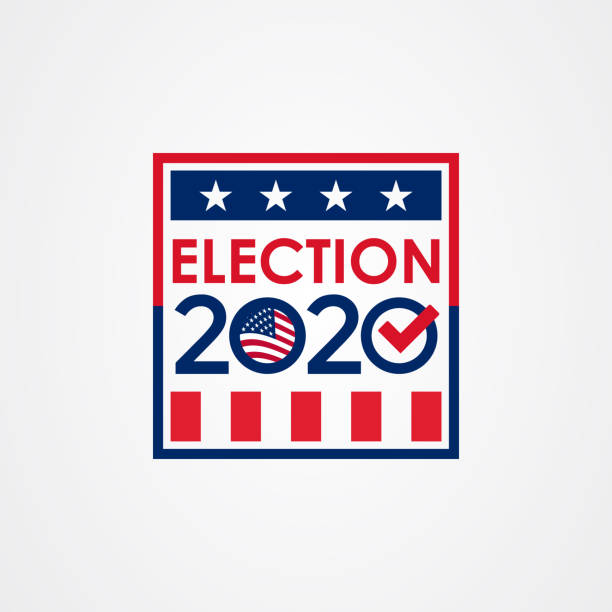 2020 United States of America presidential election vote banner. 2020 United States of America presidential election vote banner. election stock illustrations