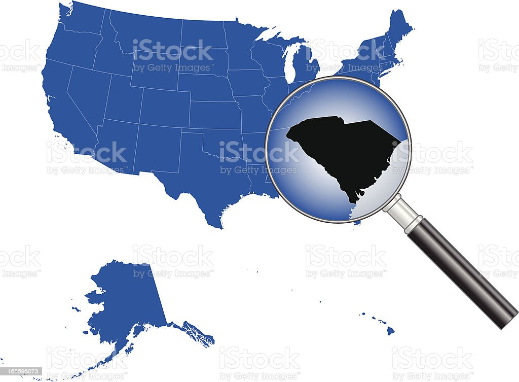 United States of America - South Carolina Map royalty-free united states of america south carolina map stock vector art & more images of backgrounds